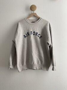 Vintage Air Force Crew Neck Sweatshirt Made in USA Size Medium