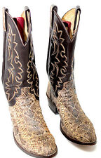 DAN POST RATTLESNAKE MID CALF WESTERN COWBOY BOOTS MADE IN USA MENS 8.5 D  Z115