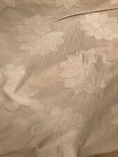 Vintage Curtain Fabric Quality Sunburst Ivory Cream Jacquard 10 Metre Roll