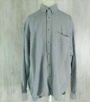 J Crew Mens Cotton Flannel Size Large Long Sleeve Button Down Shirt Blue Checked