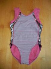 Ivivva by Lululemon Girls colorful pink gymnastics dance leotard bodysuit, 12