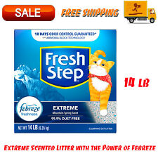 Fresh Step Extreme Scented Litter, Clumping Cat Litter - Mountain Spring, 14 lbs
