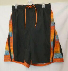 NIKE Board Shorts Surfing Swim Trunks Blue & Orange Polyester Perfect 6