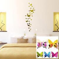 3D Butterfly Art Decal Home Decor PVC Butterflies Wall Mural Stickers 12Pcs MT