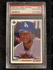 1991 UD Final Edition Pedro Martinez Rookie #2F PSA Gem Mint 10, Dodgers