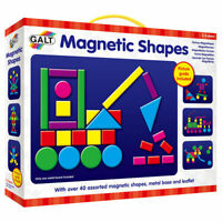 Galt Toys Magnetic Shapes - Board with over 40 magnetic shapes in bright colours