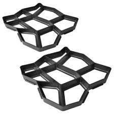 Vidaxl moldes de pavimento para el Jardín 42x42x4 cm 2 unidades