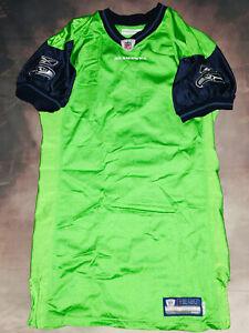100% Authentic Reebok Seattle Seahawks Alternate Game Issued Jersey 48+4 Blank