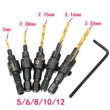sale Woodworking Countersink Drill Bit Set 1/4 Hex Shank Counterbore Sink Bits