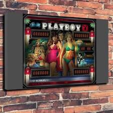 """PLAYBOY pinball glass Art Toile Imprimée A1.30""""x20"""" ~ Deep 30 mm cadre MANCAVE"""