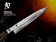 Shun Premier Damascus Serrated Utility Knife 6 inch Cutlery Flatware Kai Japan