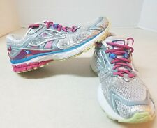 Brooks Ravenna Women's Running Shoes  Gray White Hot Pink sz 8