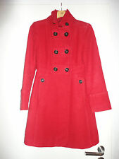 Damen Mantel Militärstil Jacke Mango MNG XS 34 Rot Schwarz w.NEU Elegant Winter