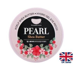 KOELF PEARL & SHEA Butter Hydrogel Eye Patch Mask 60pc Firms Brightens Skin [UK]