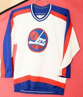 Winnipeg Jets CCM/MASKA White Men Adult Small Rare Vintage Jersey (has stains)