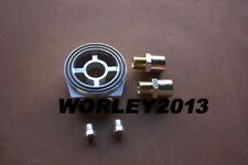 Oil Cooler Filter Sandwich Adapter AN10 Plate M20X1.5 3/4-16 UNF Silver