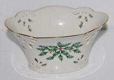 Lenox Holiday Pierced Small Serving Bowl Mint