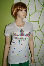 adidas T-shirt Gr.32 Kleeblatt Clover Trefoil weiss rot blau grün Kleeblätter