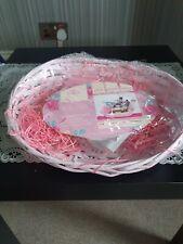 DIY Hamper Kit Oval Pink Sloped 31x22x10cm Mothers Day Easter Gift Set Basket