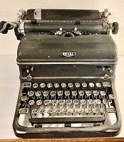 Vintage Royal Touch Control Typewriter Black Glass Keys - Working