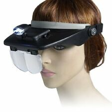 toolzone HB195 Head Mounted Magnifier Magnifying Glasses - Black