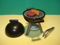 PLAYMOBIL BARBACOA ASADOR CON HAMBURGUESA, BARBECUE ¡ ESTADO NUEVO !
