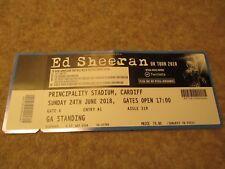 Ed Sheeran UK Tour 2018 Sunday 24 June Principality Stadium Cardiff Ticket.