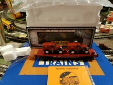 MTH 30-8303 RAIL KING Flat Car with Ertil '32 Panel Van's Die-Cast 🇺🇸🚂 lot