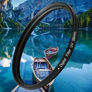 UV Digital Filter Lens Protector Black For Canon Nikon SLR DSLR Camera 37-82 mm
