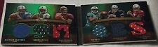 2009 Topps Triple Threads Relic Double Combos Emerald 2 Stafford Freeman Sanchez