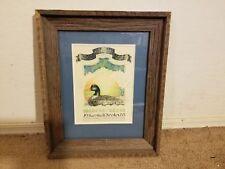 Vintage 1983 Framed Print For Old Mr Mallard Menagerie By Marshall Ferster Signd