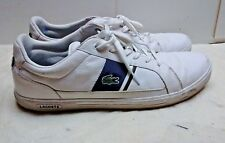 Lacoste Europa White Leather Men Low Tops Fashion Sneakers Lace Casual Shoes 13M