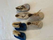 Vintage baby shoes ~ 3 pair & collectible shoe box