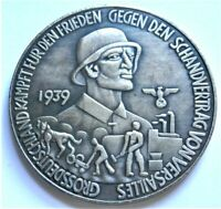 WW2 GERMAN COMMEMORATIVE COLLECTORS REICHSMARK COIN '39