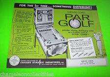 Chicago Coin PAR GOLF 1965 NOS Original Arcade Game Mechanical Golfing Mannequin