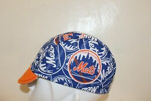 CYCLING CAP MLB NEW YORK METS   100% COTTON HANDMADE IN USA S/M/L