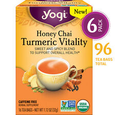 Yogi Tea - Honey Chai Turmeric Vitality - 6 Pack, 96 Tea Bags Total