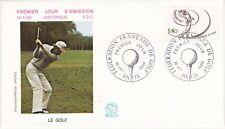 Enveloppe 1er jour FDC n°1180- 1980 - Le Golf