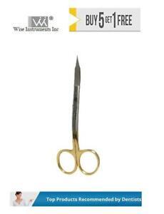 Dental Surgical Scissor Goldman Fox Cvd Hande 12.5cm T/C by Wise instruments