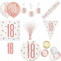 13th Birthday Rose Gold,Decorations,Party,Confetti,Balloons Banner Flag Bunting