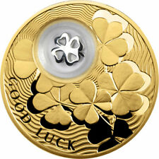 Niue 2013 2$ Four-Leaf Clover Lucky Coins III Proof Silver Coin