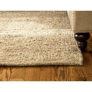 Modern Wool and Jute Braided Handmade Reversible Area Rug for Upscale Decor