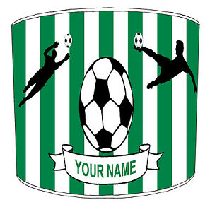 Personalise Football Teams Lampshades, Ideal To Match Soccer Cushions Covers