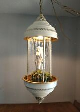 VINTAGE HANGING OIL RAIN LAMP 3 GREEK GODDESS Works clean