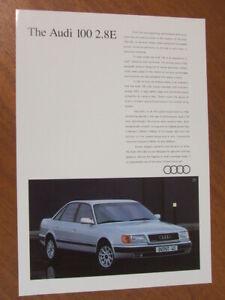 1994 Audi 100 V6 2.8E original Australian single page brochure