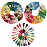 24/50/100PCS EMBROIDERY THREAD CROSS STITCH COTTON DIY FLOSS SKEINS SEWING SMART