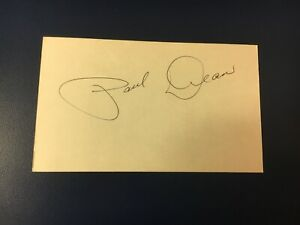 "original baseball player PAUL DEAN ""DAFFY"" SIGNED INDEX CARD (deceased 1981)"