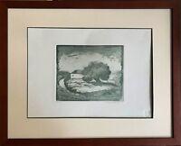GUIDANTONI  Anna Maria incisione Paesaggio 35x25 firmata numerata + cornice