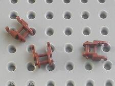 3 maillons de chaine LEGO TECHNIC 3711 RedBrown chain link / 7670 Hailfire Droid