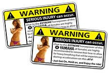 Yamaha ATV Warning Sticker Big Bear Kodiak Bruin YFZ